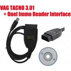 Корректор одометров  VAGTACHO 3.01+OPEL IMMO